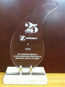 Premio Zimmer 25 años